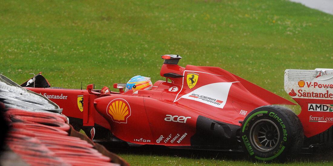 Fernando Alonso - Ferrari - Formel 1 - GP England - Silverstone - 6. Juli 2012