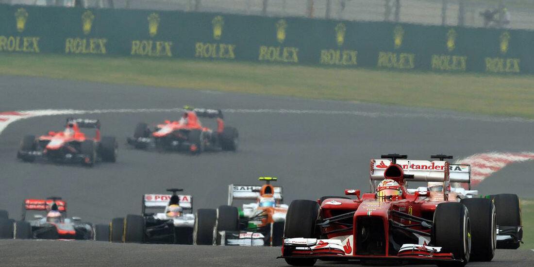 Fernando Alonso - Ferrari - Formel 1 - GP Indien - 27. Oktober 2013