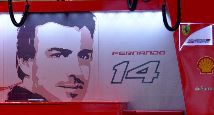 Fernando Alonso - Ferrari - Formel 1 - GP Russland - 10. Oktober 2014