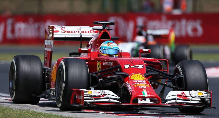 Fernando Alonso Ferrari Formel 1 GP Ungarn 2014