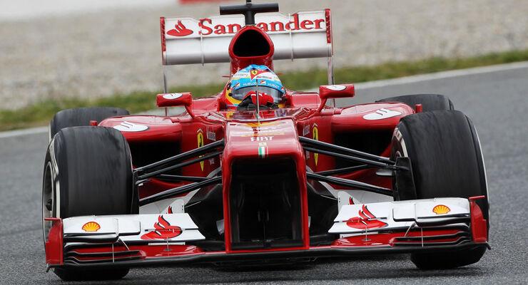 Fernando Alonso, Ferrari, Formel 1-Test, Barcelona, 01. März 2013