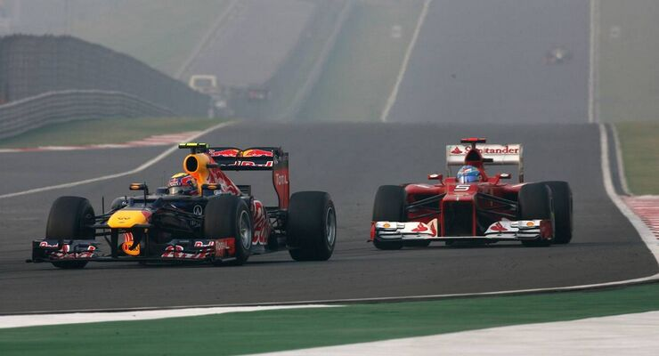Fernando Alonso Mark webber GP Indien 2012
