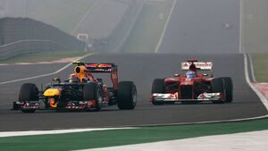 Fernando Alonso Mark webber GP Indien 2012