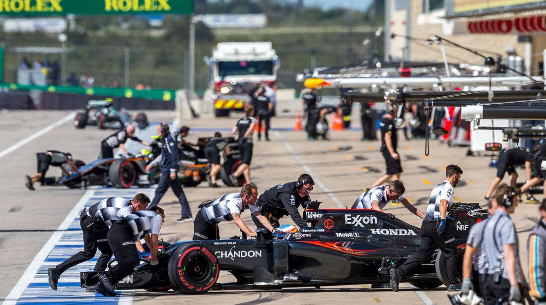 Fernando Alonso - McLaren - Formel 1 - Austin - GP USA - 22. Oktober 2016