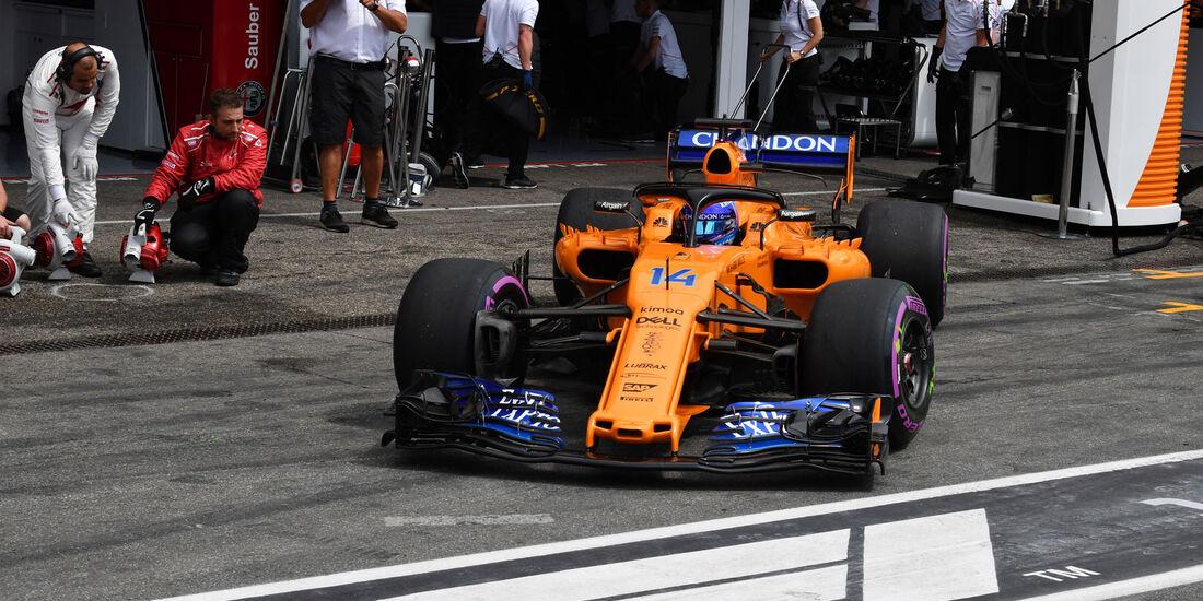 Fernando Alonso - McLaren - GP Deutschland 2018 - Hockenheim - Qualifying - Formel 1 - Samstag - 21.7.2018
