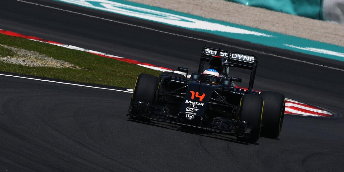 Fernando Alonso - McLaren-Honda - Formel 1 - GP Malaysia - Freitag - 30.9.2016
