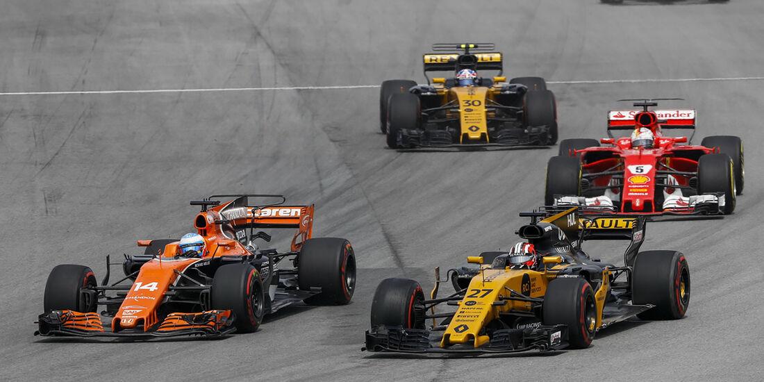 Fernando Alonso & Nico Hülkenberg - GP Malaysia 2017