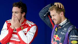 Fernando Alonso & Sebastian Vettel