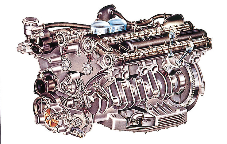 Ferrari 365 GT – 412, mkl0912, Motor