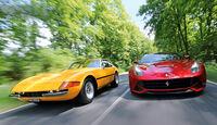 Ferrari 365 GTB/4, Ferrari F12 Berlinetta, Frontansicht