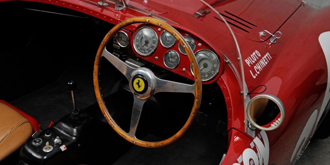 Ferrari 375 MM Spider, Cockpit, Lenkrad