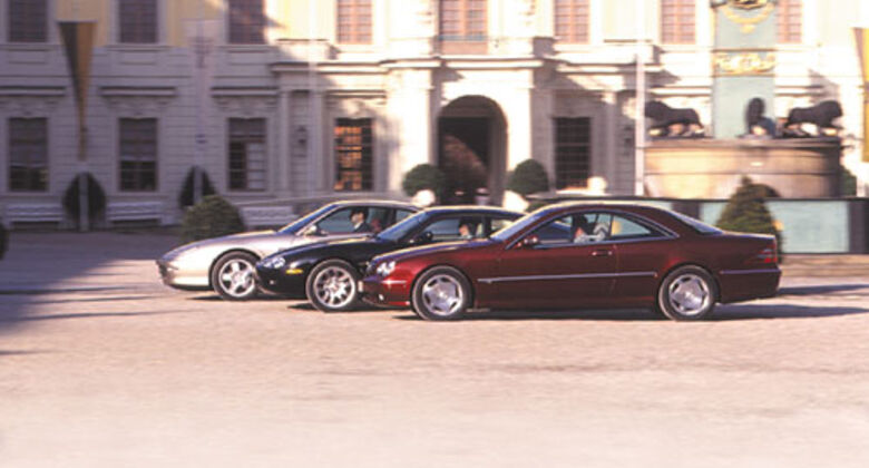 Ferrari 456M GTA, Jaguar XKR Coupé, Mercedes CL 600