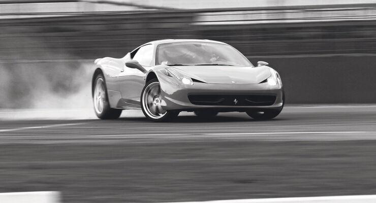 Ferrari 458 Italia, Frontansicht, Drift