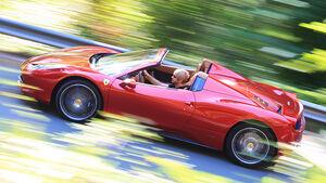 Ferrari 458 Spider, Seite