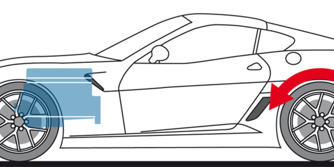 Ferrari 599 GTO, Zeichnung