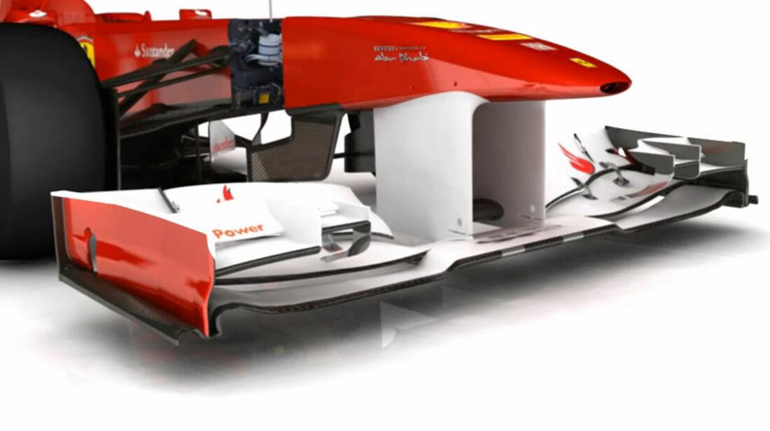 Ferrari F150 Piola Technik Frontflügel Korea