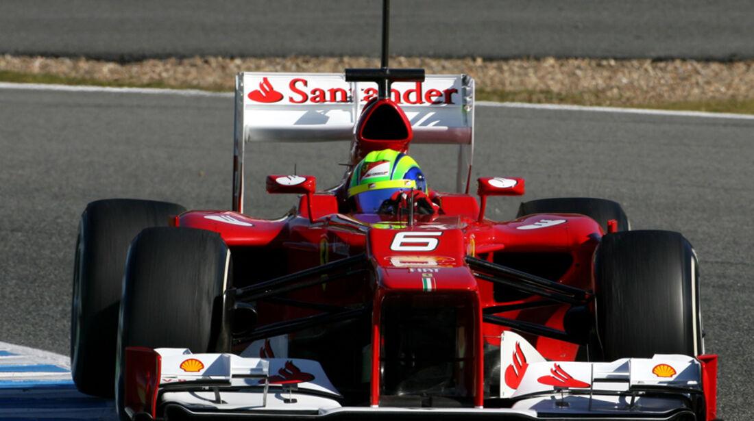 Ferrari F2012 Formel 1 Jerez 2012
