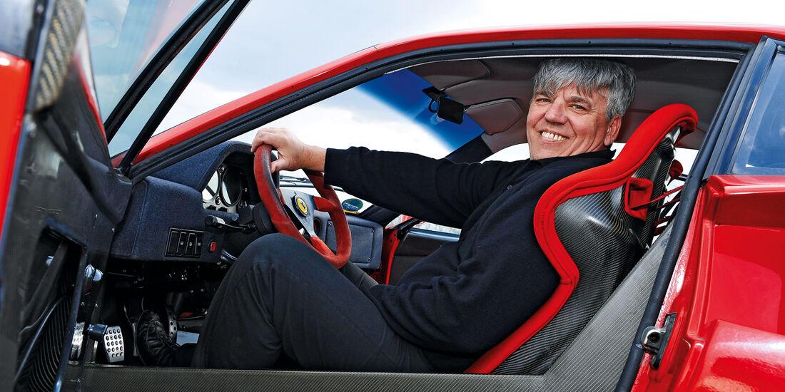 Ferrari F40, Cockpit, Hermann Layhers