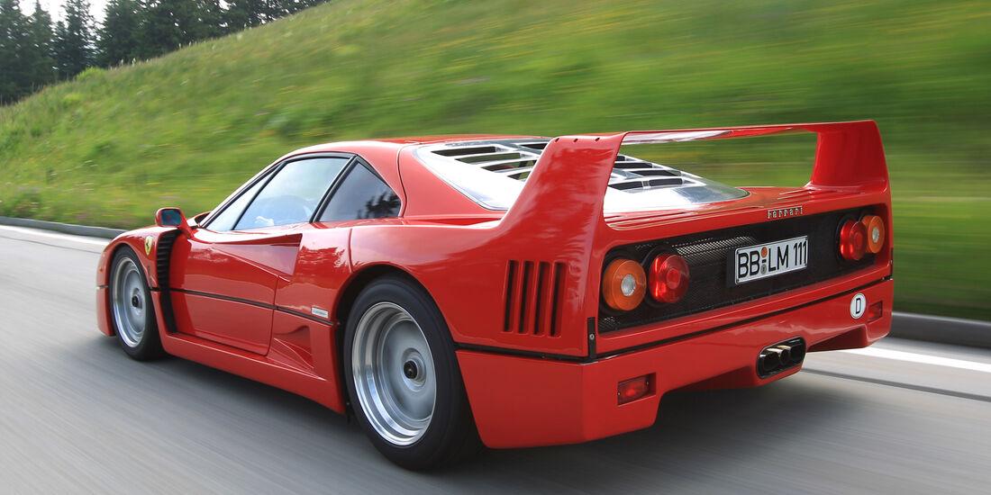 Ferrari F40, Heckansicht