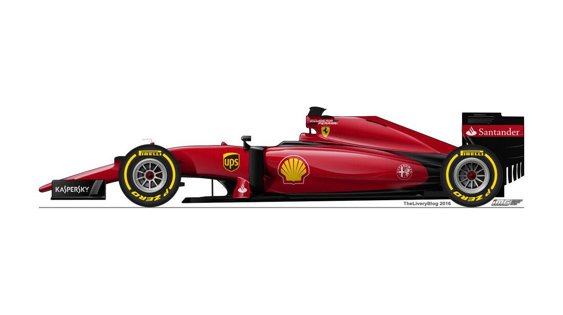 Ferrari - Formel 1 Design Concepts 2016