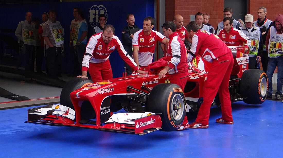 Ferrari - Formel 1 - GP Belgien - Spa Francorchamps - 23. August 2013