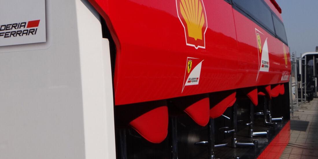 Ferrari-Kommandostand - Formel 1 - GP Italien - Monza - 5. September 2013