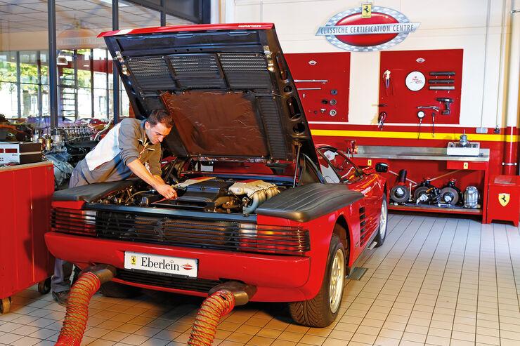 Ferrari Testarossa, Motor, Auspuff