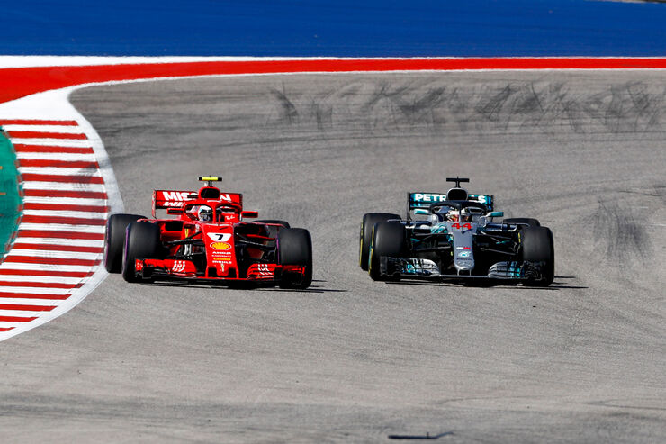 Ferrari vs. Mercedes - GP USA 2018