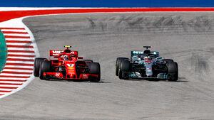Ferrari vs. Mercedes - GP USA 2018