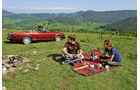 Fiat 124 Spider, Seitenansicht, Picknick, Anna Matuschek