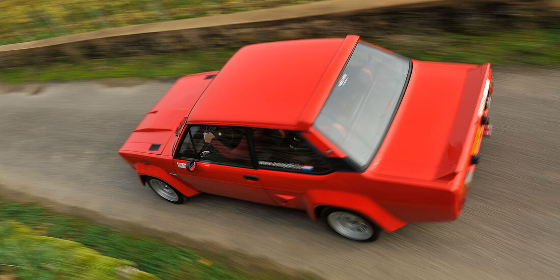 Fiat 131 Abarth, Heckansicht