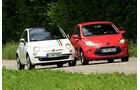 Fiat 500 1.2 8V Lounge, Ford KA Titanium