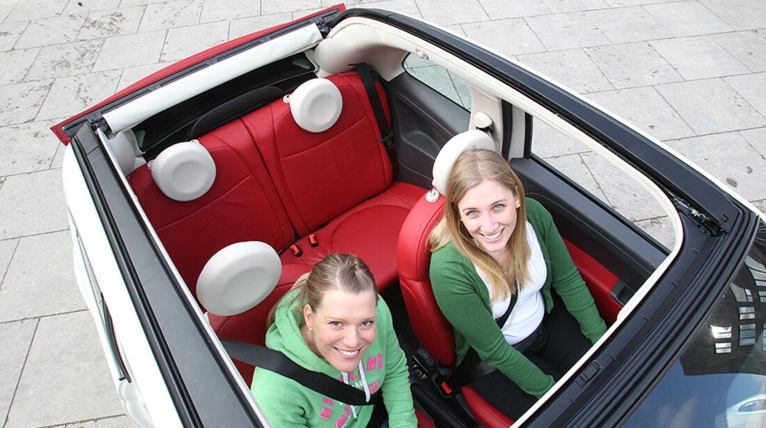 Fiat 500 C, Cabrio, Inneraum, Platzangebot