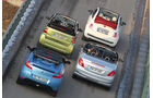 Fiat 500 C, Peugeot 207 CC, Renault Wind, Smart Fortwo Cabrio, Heck