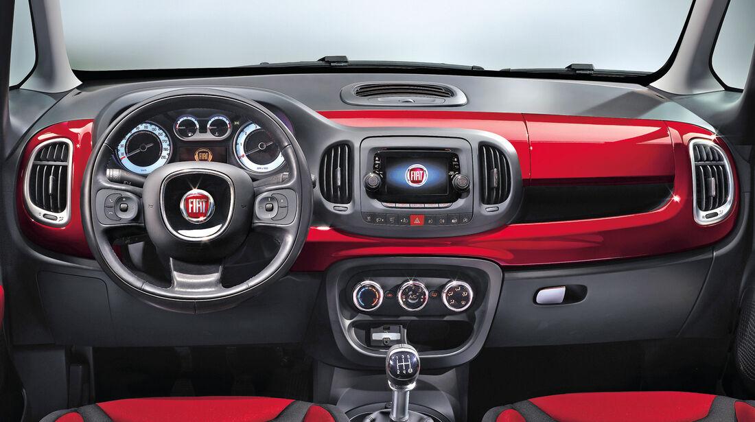Fiat 500 L, Cockpit, Lenkrad