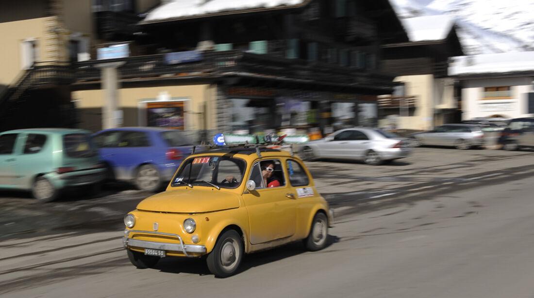 Fiat 500 in Livigno