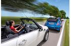 Fiat 500C, Mini One Cabrio, Ausfahrt, Impression