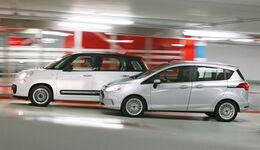 Fiat 500L 1.4 16V Pop Star, Ford B-Max 1.0 Ecoboost Titanium, Seitenansicht