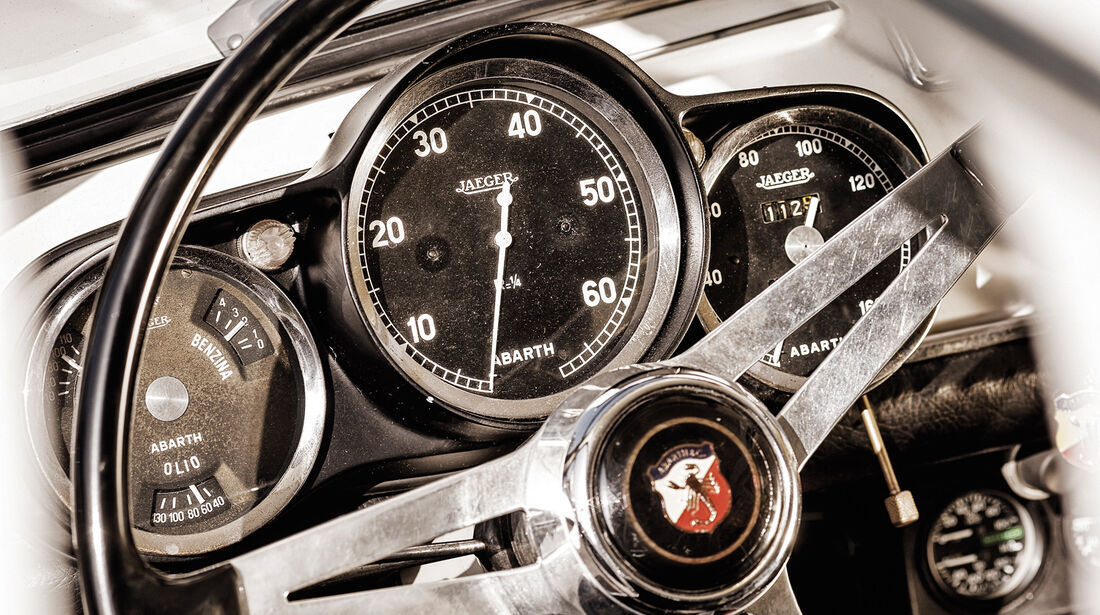 Fiat Abarth 1000 TC, Rundinstrumente
