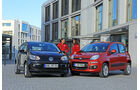Fiat Panda 0.9 8V Natural Power Lounge, VW Up Ecofuel high up BMT, Frontansicht