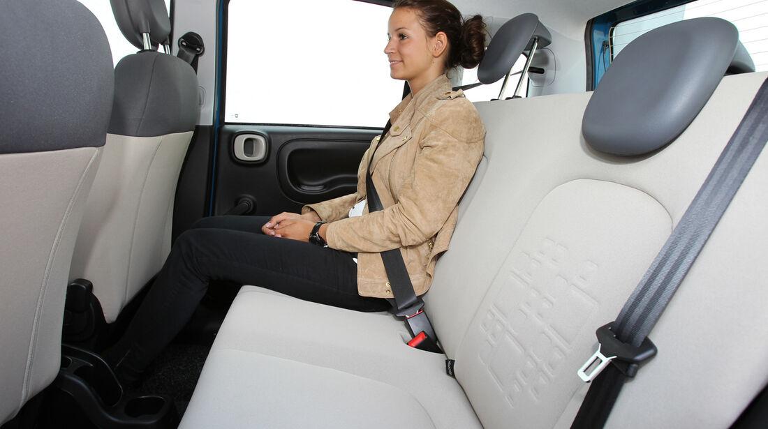 Fiat Panda 1.2 8V Lounge, Rücksitz, Beinfreiheit