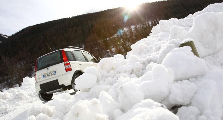 Fiat Panda 4X4, Heck, Sonnenuntergang