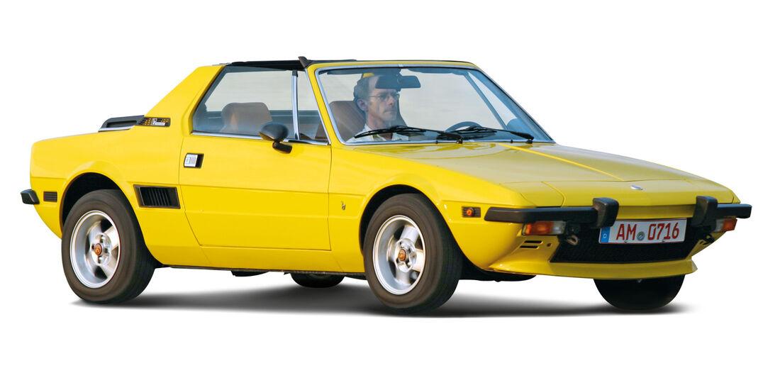 Fiat X1/9, Seitenansicht