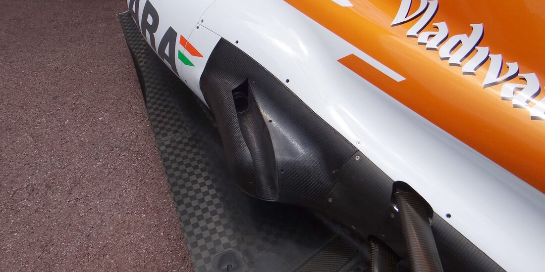 Force India Auspuff GP Monaco 2012