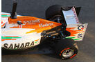 Force India Auspuff Jerez Test 2012