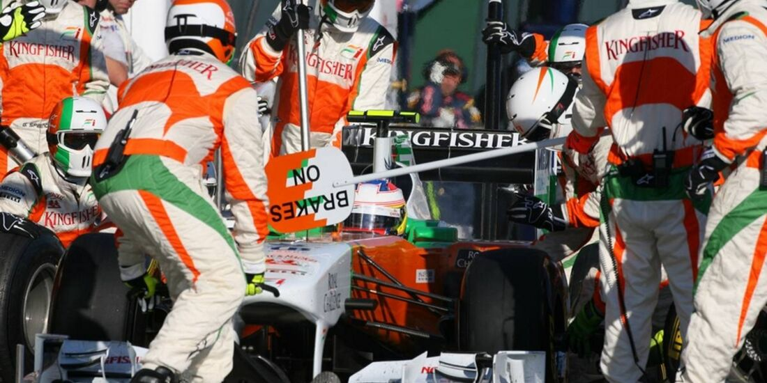 Force India Boxenstopp GP Malaysia 2011 Formel 1