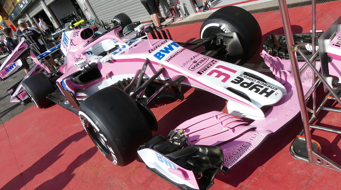Force India - Formel 1 - GP Belgien - Spa-Francorchamps - 23. August 2018