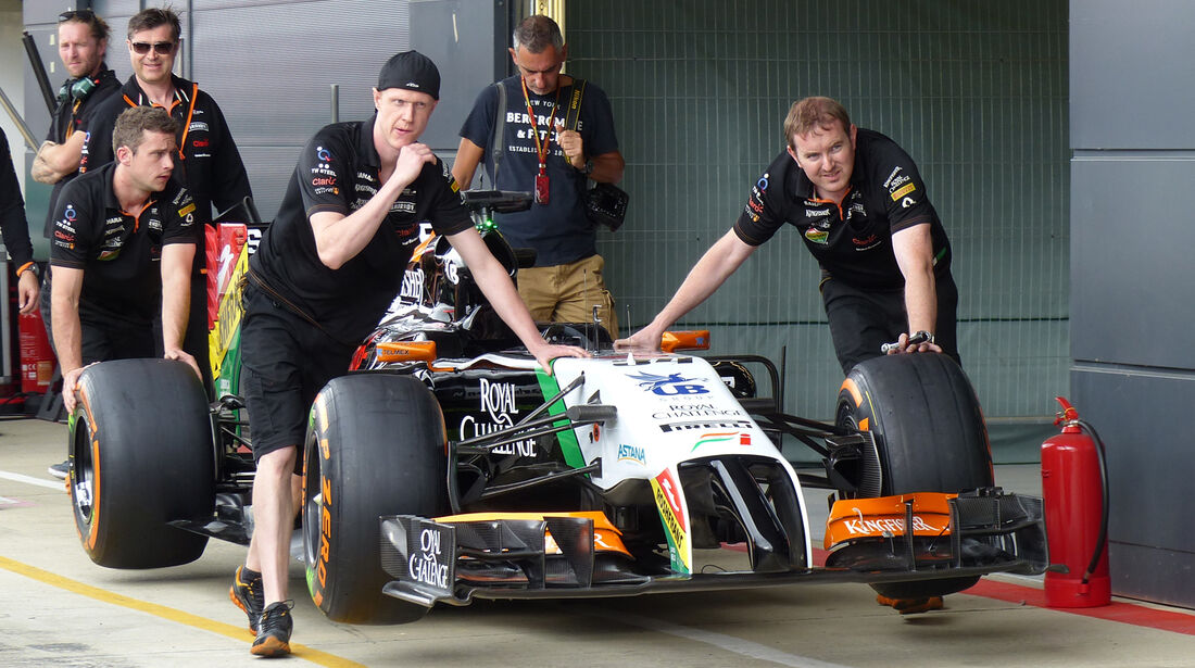 Force India - Formel 1 - GP England - Silverstone - 3. Juli 2014