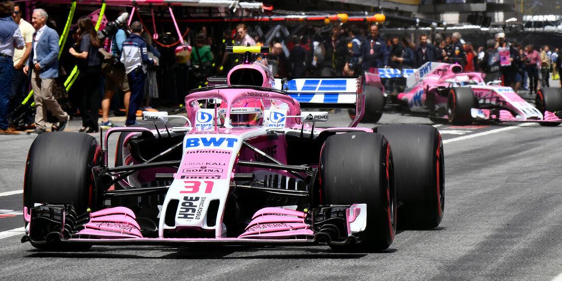 Force India - Formel 1 - GP Spanien 2018