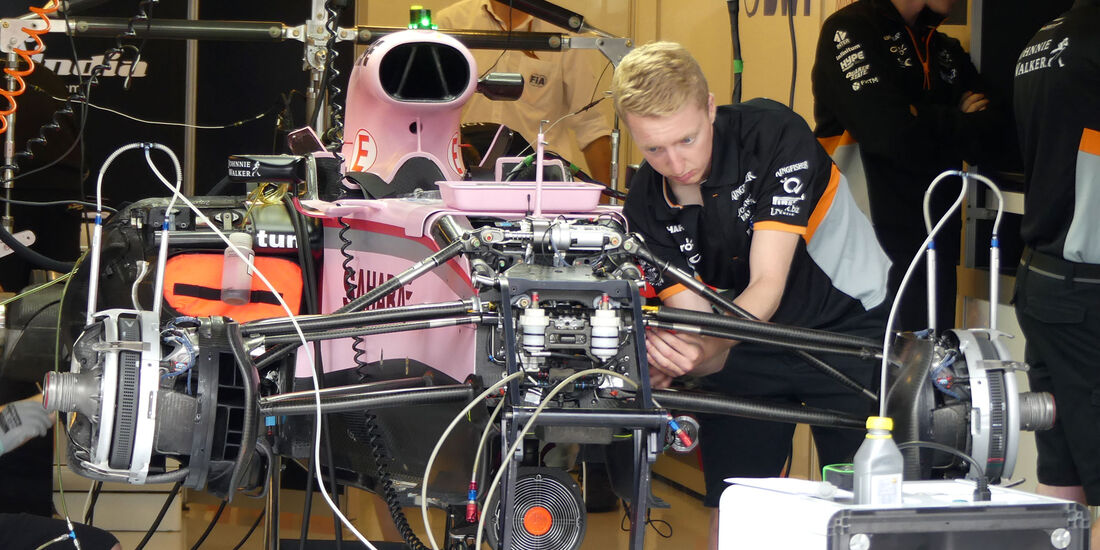 Force India - GP Ungarn 2017 - Budapest - Formel 1 - Donnerstag - 27.7.2017